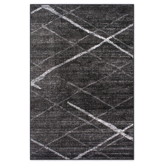 nuLOOM Contermporary Striped Dark Grey Rug (4' x 6')