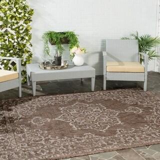 Safavieh Indoor/ Outdoor Courtyard Brown/ Beige Rug (8' x 11')