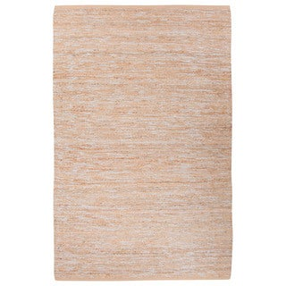 Nikki Chu Naturals Solid Pattern Natural Jute and Polyester Area Rug (8x10)