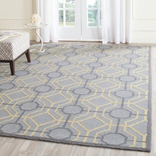 Safavieh Hand-Hooked Four Seasons Grey / Gold Polyester Rug (5' x 8')