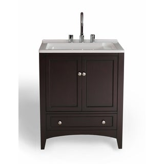 27 inch Espresso Laundry Single Sink Vanity