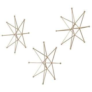 Gold Stars Wall Art (Set of 3)