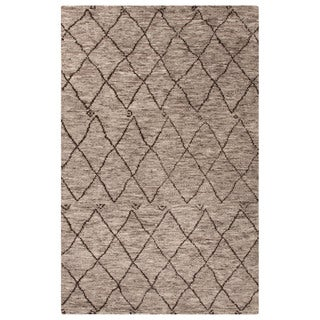 Jaipur Living Hand-Knotted Zuri Gray/Brown Moroccan Rug (8' x 10')