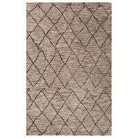 Konya Hand-Knotted Trellis Gray/ Brown Area Rug (9' x 12')