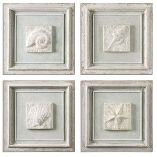 Matira Stone Wall Art (Set of 4)