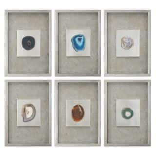 Agate Stone Silver Wall Art (Set of 6)|https://ak1.ostkcdn.com/images/products/11038577/P18052242.jpg?impolicy=medium