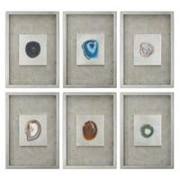 Agate Stone Silver Wall Art (Set of 6) - 19.5 x 13.5