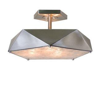 Tesoro 3-light Antique Nickel Semi Flush Light