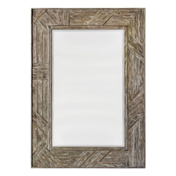 Fortuo Mahogany Wood Mirror - 31.5x43.5x1.38