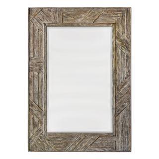 Fortuo Mahogany Wood Mirror
