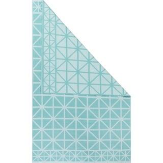 Petit Collage Flatweave Tribal Pattern Blue Cotton Area Rug (2x3)