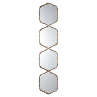 Myriam Twisted Iron Mirror - Silver