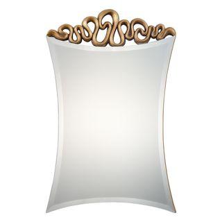 Essonne Antiqued Gold Mirror