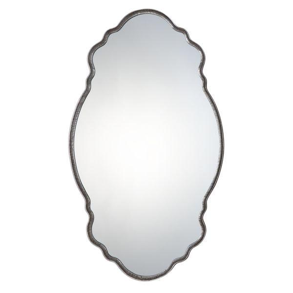Samia Silver Mirror - Antique Silver - 20.75x36x1.25