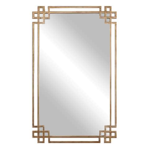 Devoll Antique Gold Mirror - Antique Gold - 22.75x36.625x1