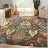 Hand-Knotted Tribal Black Area Rug (2' X 3')