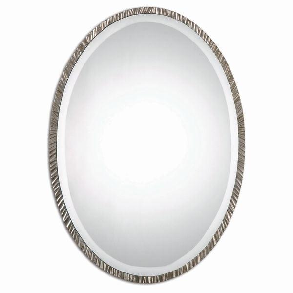 Annadel Oval Wall Mirror - Nickel - 20x28x1
