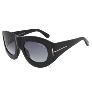 Tom Ford FT0403 01V Mila Oval Sunglasses