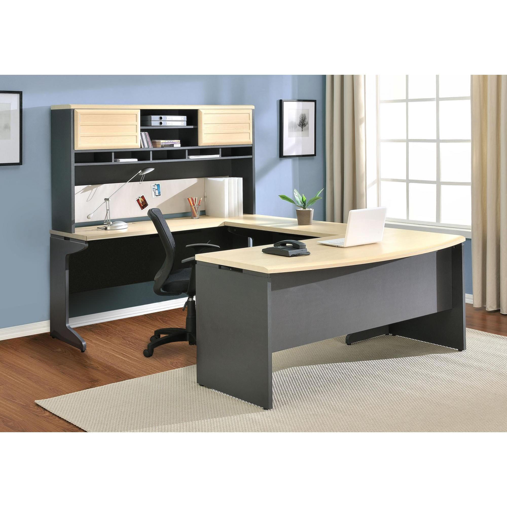 Ameriwood Home Altra Benjamin Grey/ Natural U-Shaped Desk...
