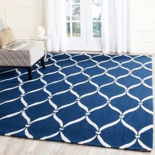 Safavieh Hand-Hooked Four Seasons Navy / Ivory Polyester Rug (3'6 x 5'6)