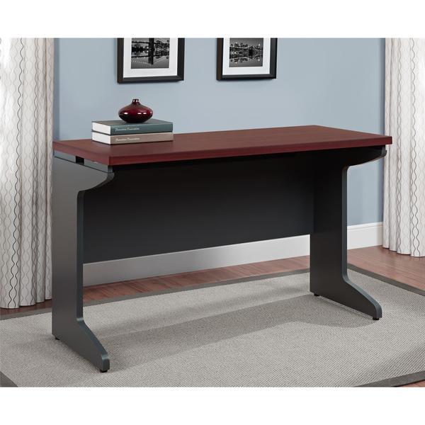 Ameriwood Home Pursuit Cherry/ Grey Bridge Table