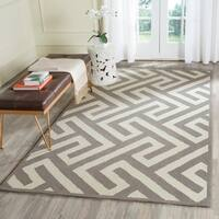"""Safavieh Hand-Hooked Four Seasons Ivory / Grey Polyester Rug - 3'6"""" x 5'6"""""""