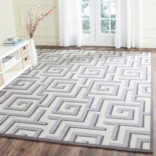 Safavieh Hand-Hooked Four Seasons Ivory / Grey Polyester Rug (3'6 x 5'6)