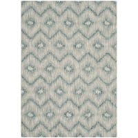 "Safavieh Indoor/ Outdoor Courtyard Grey/ Blue Rug - 2'7"" x 5'"