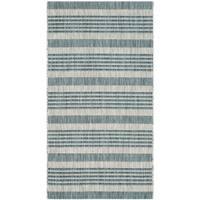 Safavieh Indoor/ Outdoor Courtyard Grey/ Blue Rug - 2'7 x 5'
