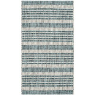 Safavieh Indoor/ Outdoor Courtyard Grey/ Blue Rug (2' x 3'7)