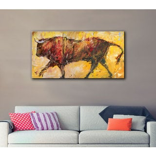 JC Pino's The Bull, 3 Piece Gallery Wrapped Canvas Set