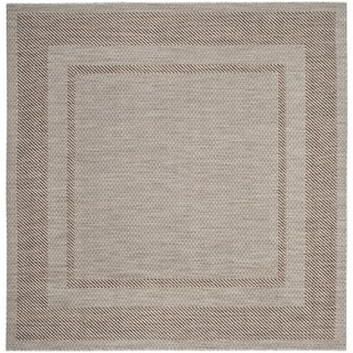 Safavieh Indoor/ Outdoor Courtyard Beige/ Brown Rug (6'7 x 6'7 Square)