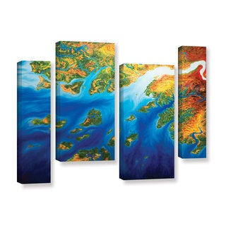 ArtWall John Sabraw's Bilagos, 4 Piece Gallery Wrapped Canvas Staggered Set