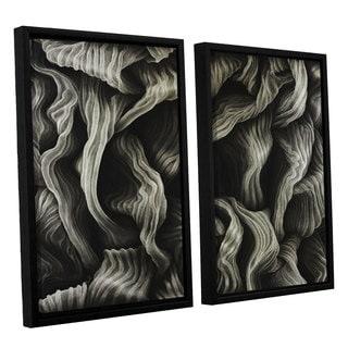 ArtWall John Sabraw's Clover, 2 Piece Floater Framed Canvas Set