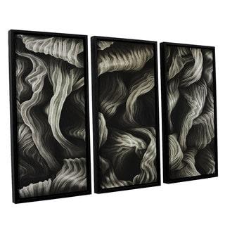 ArtWall John Sabraw's Clover, 3 Piece Floater Framed Canvas Set