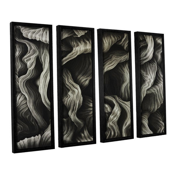 ArtWall John Sabraw's Clover, 4 Piece Floater Framed Canvas Set