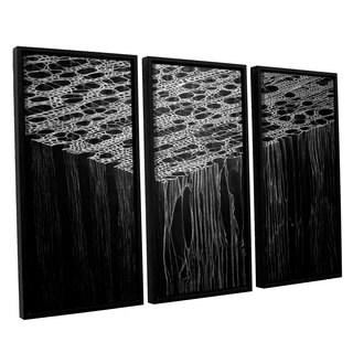 ArtWall John Sabraw's Precipice, 3 Piece Floater Framed Canvas Set