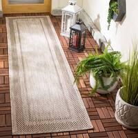 Safavieh Indoor/ Outdoor Courtyard Beige/ Brown Rug - 2'3 x 12'