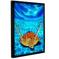 ArtWall Daniel Jean-Baptiste's Paradise Turtle, Gallery Wrapped Floater-framed Canvas