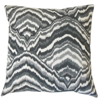 Quiana Graphic Down and Feather Filled 18-inch Throw Pillow