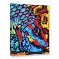 ArtWall Daniel Jean-Baptiste's Stoplight Parrotfish, Gallery Wrapped Canvas