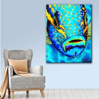 ArtWall Daniel Jean-Baptiste's Yellowtail Snapper, Gallery Wrapped Canvas