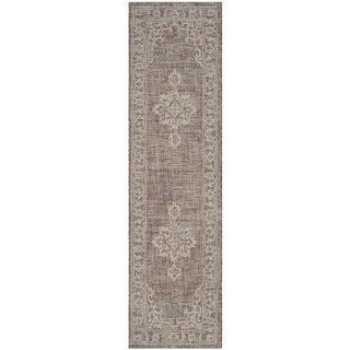 Safavieh Indoor/ Outdoor Courtyard Brown/ Beige Rug (2'3 x 12')
