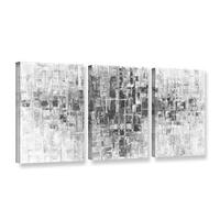 ArtWall Susanna Shaposhnikova's Black And White, 3 Piece Gallery Wrapped Canvas Set