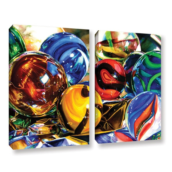 ArtWall Kelly Eddington's Planets And Foil, 2 Piece Gallery Wrapped Canvas Set