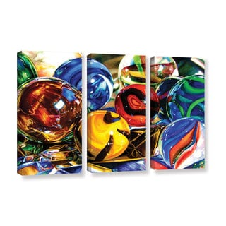 ArtWall Kelly Eddington's Planets And Foil, 3 Piece Gallery Wrapped Canvas Set