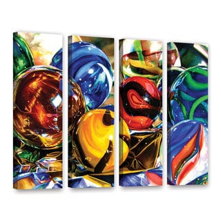ArtWall Kelly Eddington's Planets And Foil, 4 Piece Gallery Wrapped Canvas Set