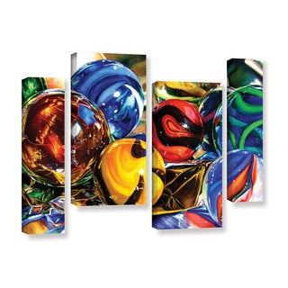 ArtWall Kelly Eddington's Planets And Foil, 4 Piece Gallery Wrapped Canvas Staggered Set