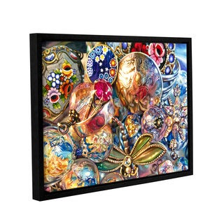 ArtWall Kelly Eddington's Ruby Liberty Dragonfly, Gallery Wrapped Floater-framed Canvas
