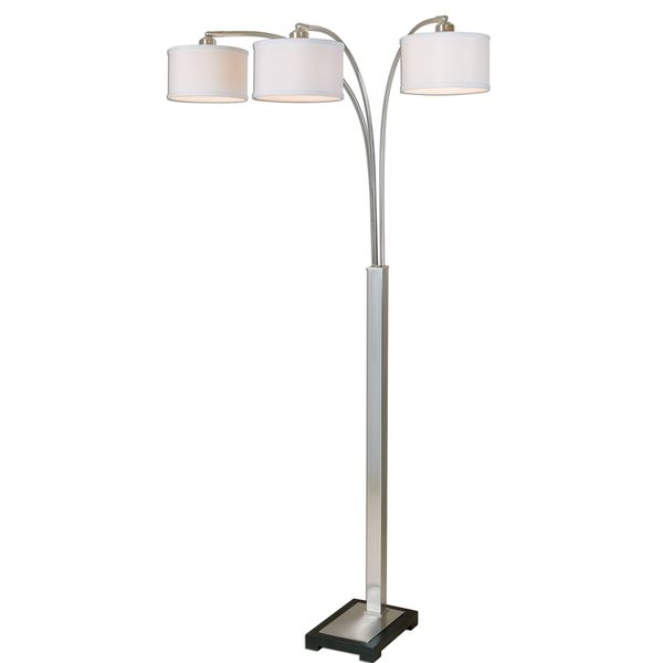 Bradenton Nickel 3-light Floor Lamp